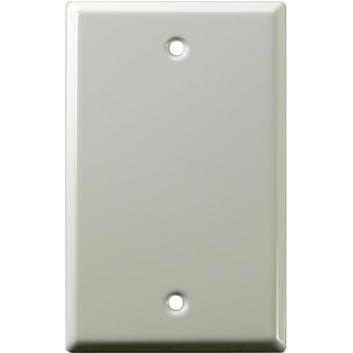 Whirlwind 1-Gang Blank Wall Plate (White on Steel Finish)
