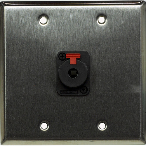 "Whirlwind WP2/1QW 2-Gang Wall Plate with 1 Whirlwind WCQF 1/4"" Terminal (Stainless Steel Finish)"