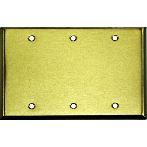 Whirlwind 3-Gang Wall Mounting Plate (Satin Brass Finish)