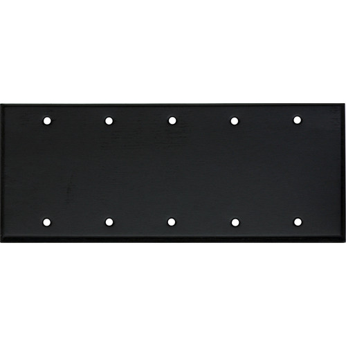 Whirlwind 5-Gang Blank Wall Plate (Black Finish)