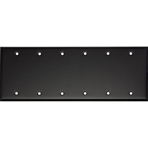 Whirlwind 6-Gang Blank Wall Plate (Black Finish)