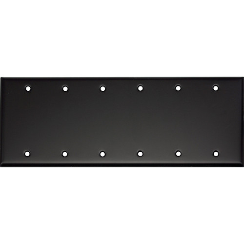 Whirlwind 6-Gang Blank Wall Mounting Plate (Black Finish)