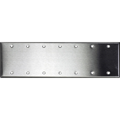 Whirlwind 7-Gang Blank Wall Plate (Stainless Steel Finish)