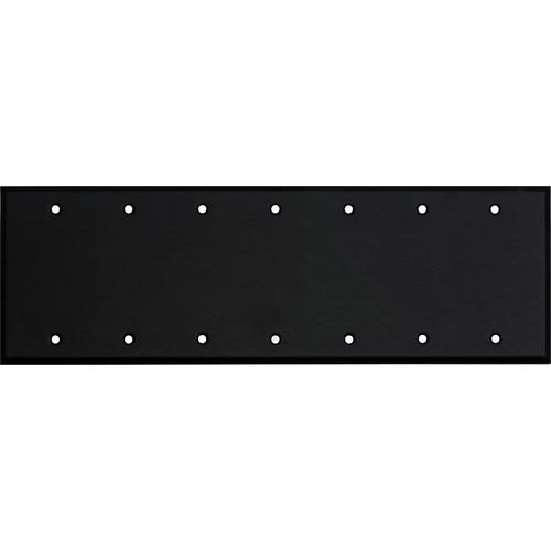 Whirlwind 7-Gang Blank Wall Plate (Black Finish)