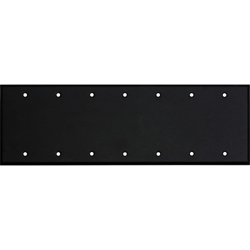Whirlwind 7-Gang Blank Wall Mounting Plate (Black Finish)