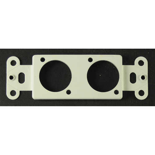 Whirlwind Decora Insert Wall Mounting Plate with Two Neutrik D Holes (White)