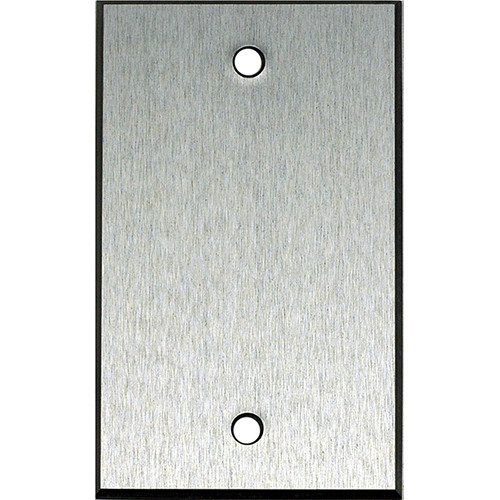 "Whirlwind 1-Gang Blank Wall Mounting Plate (.125"" Clear Anodized Aluminum Finish)"