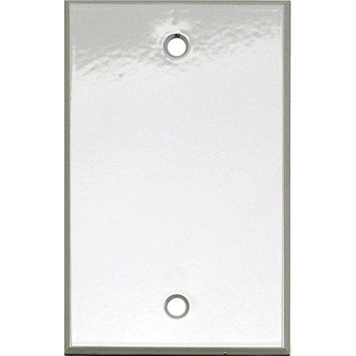 """Whirlwind 1-Gang Blank Wall Plate (0.125"""" Semi-Gloss White Finish)"""
