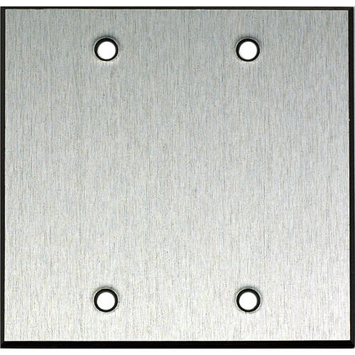 "Whirlwind 2-Gang Blank Wall Mounting Plate (.125"" Clear Anodized Aluminum Finish)"