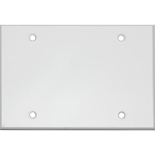 """Whirlwind 3-Gang Blank Wall Mounting Plate (.125"""" Semi-Gloss White Finish)"""