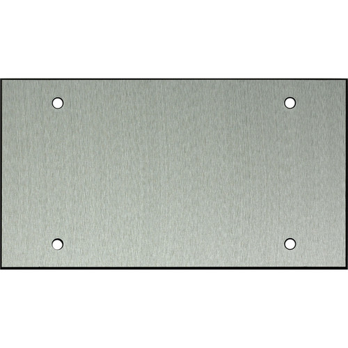 """Whirlwind 4-Gang Blank Wall Plate (0.125"""" Clear Anodized Aluminum Finish)"""