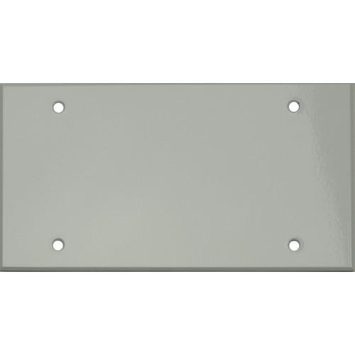 """Whirlwind 4-Gang Blank Wall Plate (0.125"""" Semi-Gloss White Finish)"""