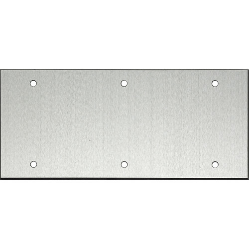 "Whirlwind 5-Gang Blank Wall Mounting Plate (.125"" Clear Anodized Aluminum Finish)"