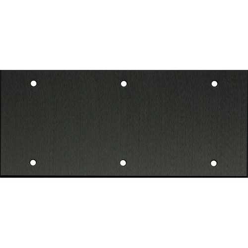"Whirlwind 5-Gang Blank Wall Plate (0.125"" Black Anodized Aluminum Finish)"