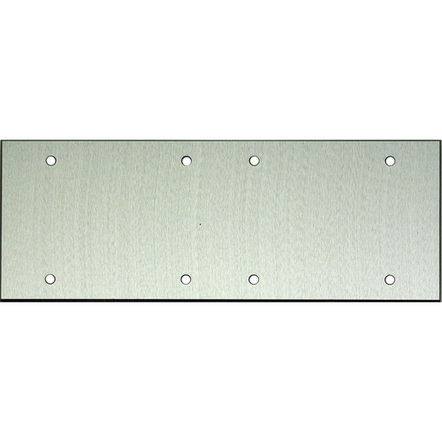 """Whirlwind 6-Gang Blank Wall Plate (0.125"""" Clear Anodized Aluminum Finish)"""