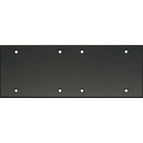 "Whirlwind 6-Gang Blank Wall Plate (0.125"" Black Anodized Aluminum Finish)"
