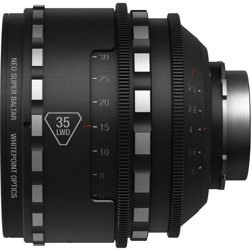 Whitepoint Optics 35mm Neo Super Baltar Lens with PL Mount (Imperial Scale, Long Working Distance)