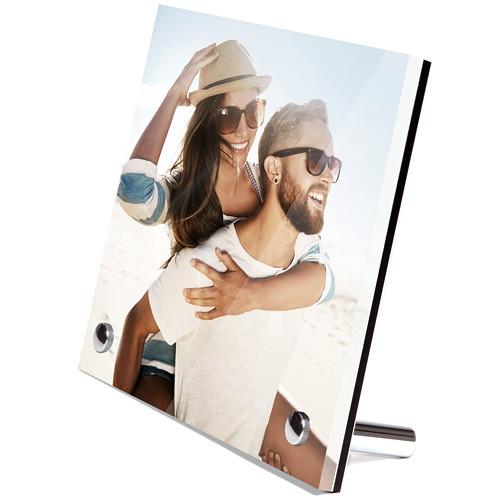 "WhiteWall Photo Print & Acrylic Desk Frame With Chrome Feet Order Kit (4 x 4"")"