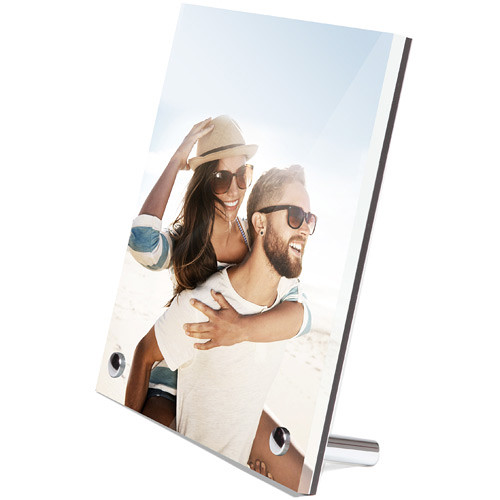 "WhiteWall Photo Print & Acrylic Desk Frame With Chrome Feet Order Kit (4 x 6"")"