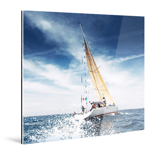 "WhiteWall Small, Square-Format Face-Mounted 1/4""-Thick Glossy Acrylic Photo Print (4 x 4"")"