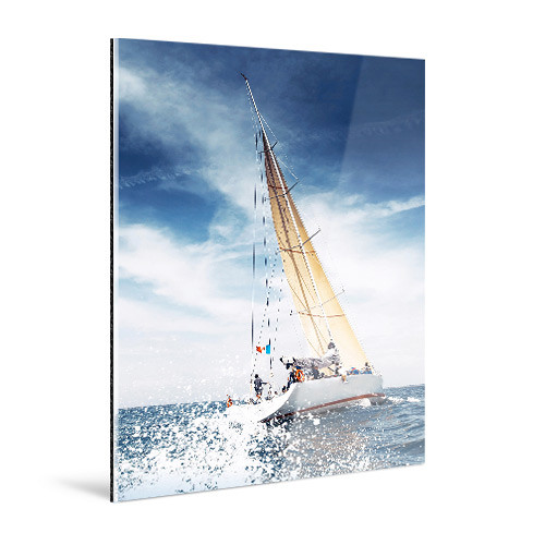 "WhiteWall Medium, Rectangular-Format Face-Mounted 1/4""-Thick Glossy Acrylic Photo Print (8 x 10"")"