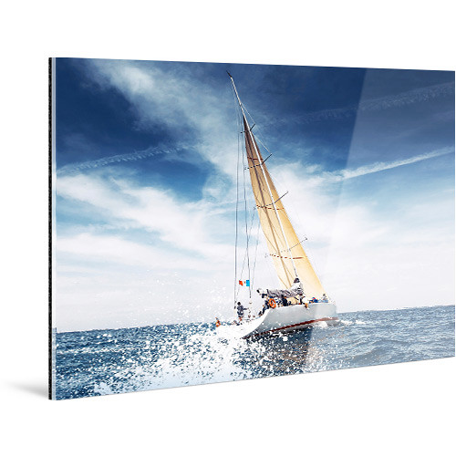 "WhiteWall Large, Panoramic-Format Face-Mounted 0.08"" Glossy Acrylic Photo Print (10 x 40"")"
