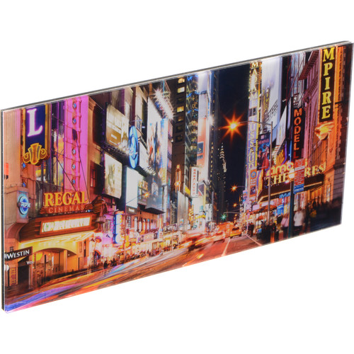 "WhiteWall 4x8"" WhiteWall Mini Panoramic Acrylic Photo Print of New York Landscape"