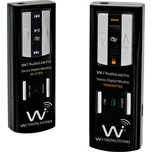 Wi Digital AudioLink Pro Pocket Portable Wireless Instrument and Audio Monitoring System with 2-Way Wireless USB Audio Interface