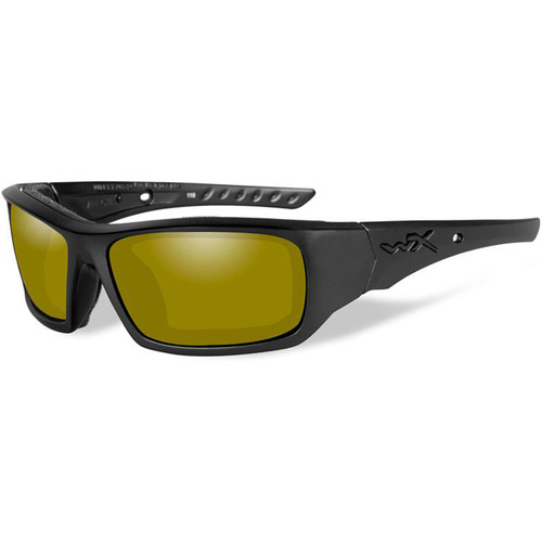 Wiley X Arrow Polarized Sunglasses (Black Frames, Yellow Lenses)