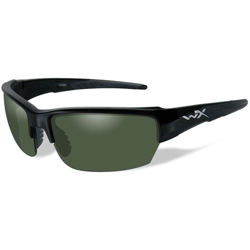 Wiley X Saint Polarized Ballistic Sunglasses (Matte Black Frame, Smoke Green Lens)