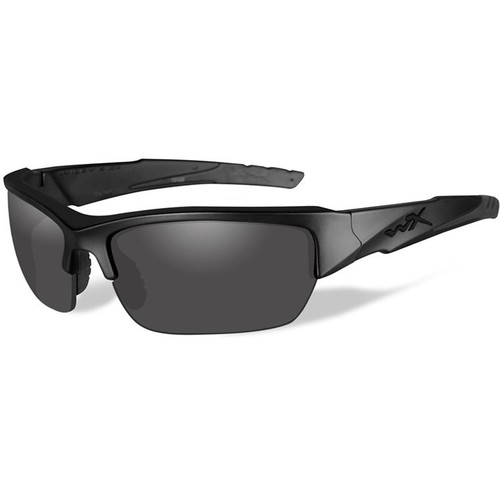 Wiley X WX Valor Polarized Sunglasses (Matte Black Frames, Smoke Gray Lenses)
