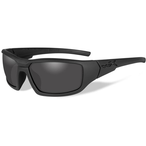 Wiley X WX Censor Polarized Sunglasses (Matte Black Frames, Smoke Gray Lenses)