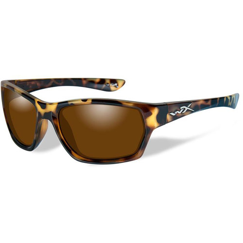 Wiley X Moxy Polarized Sunglasses (Gloss Demi Frames, Bronze Lenses)