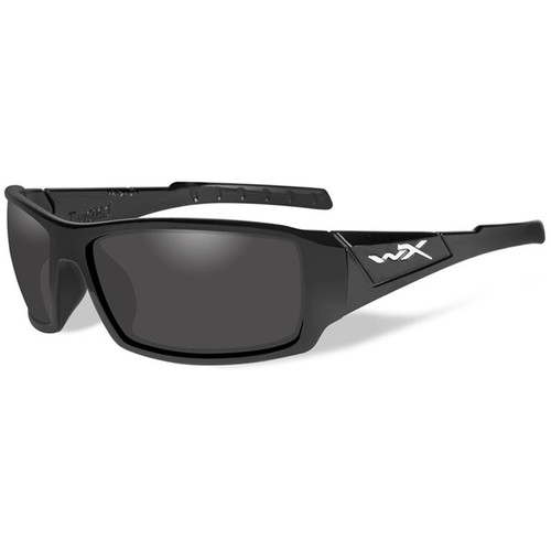 Wiley X Twisted Polarized Sunglasses (Matte Black Frames, Smoke Gray Lenses)