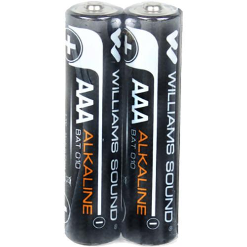 Williams Sound 2 - 1.5-Volt AAA (Triple A) Alkaline Batteries.