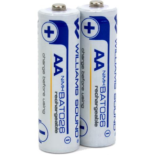 Williams Sound 2 - 1.2-Volt AA (Double A) Rechargeable NiMH Batteries