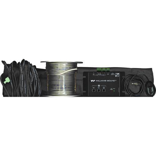 Williams Sound Counter Loop System(2A) Amplifier, PLW 120' Loop Wire,PLM 001 Loop Mat and Surface Mic
