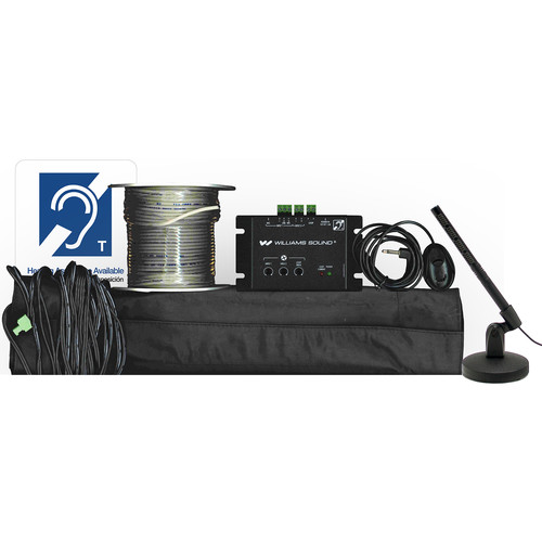 Williams Sound New Counter Loop System (2 Amp),Dl102 Amp,PLW 037 Loop Wire(120'/37M),PLM001 Loop Mat,Mic 027