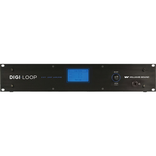 Williams Sound DL210 NET Digi-Loop DSP Dual-Channel Loop Amplifier with Dante (2.0)