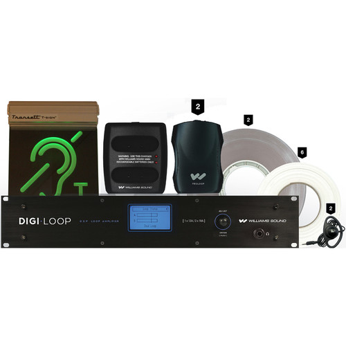 Williams Sound Large-Area Induction Loop System with Network Control and Dante Input