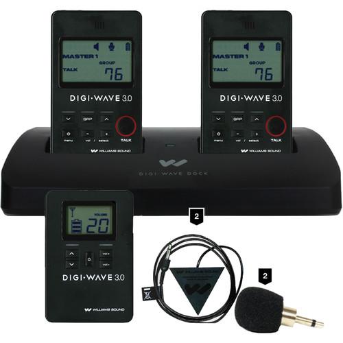 Williams Sound DW 300 Wireless Intercom:2-DLT 300/DLR 360/2-Mic-014-R Plug-Mount Mic/2-Mic-049 Omni Conference Mics