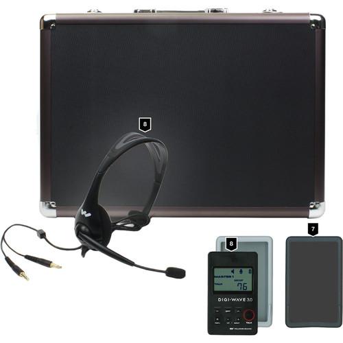 Williams Sound DW 300 Wireless Intercom:8-DLT300 Transceivers/8-Mic 044 2P Headset Mics/1-CCS 030 DW System CarryCs