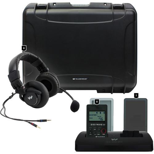 Williams Sound DW 300 Wireless Intercom:8-DLT300Transceivers/8-Mic 0582P Headset Mics/1-CCS 042 DW System CarryCase
