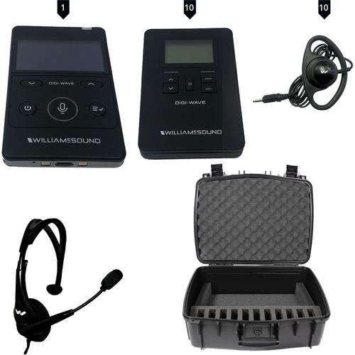 Williams Sound Digi-Wave 400 Interp Syst for 1 Presenter,10 Listeners- DLT 400 Transceiver,10 DLR 400 Receivers