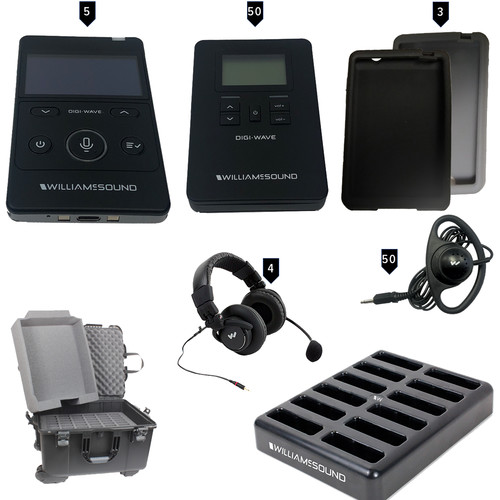 Williams Sound Digi-Wave 400 Series Interpretation System for 4 Languages plus Floor ALK