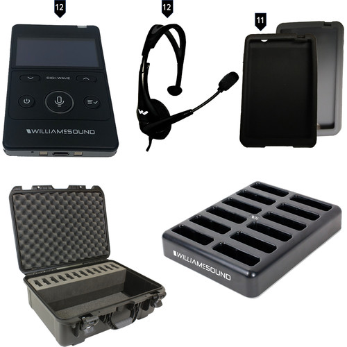 Williams Sound Digi-Wave 400 Series Tour Guide System for 2 or More Tour Guides to Combine Skills