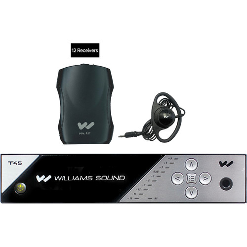 Williams Sound FM 457-12 Personal PA FM Assistive Listening System (12 Receivers)