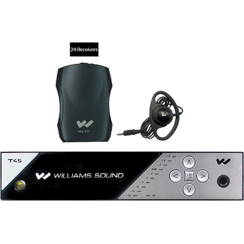 Williams Sound FM 457-24 Personal PA FM Assistive Listening System (24 Receivers)
