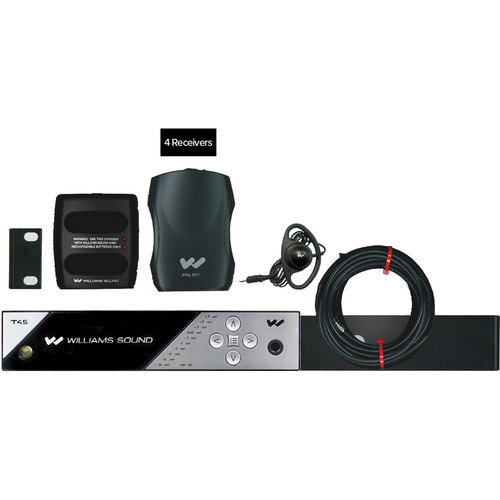 Williams Sound FM 457 PRO Personal PA FM Assistive Listening System (4 Receivers)