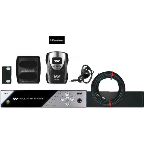 Williams Sound FM 458 PRO Personal PA FM Assistive Listening System (4 Receivers)
